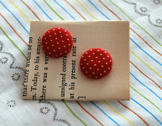 MP purchased a similar pair of these super cute button earrings.