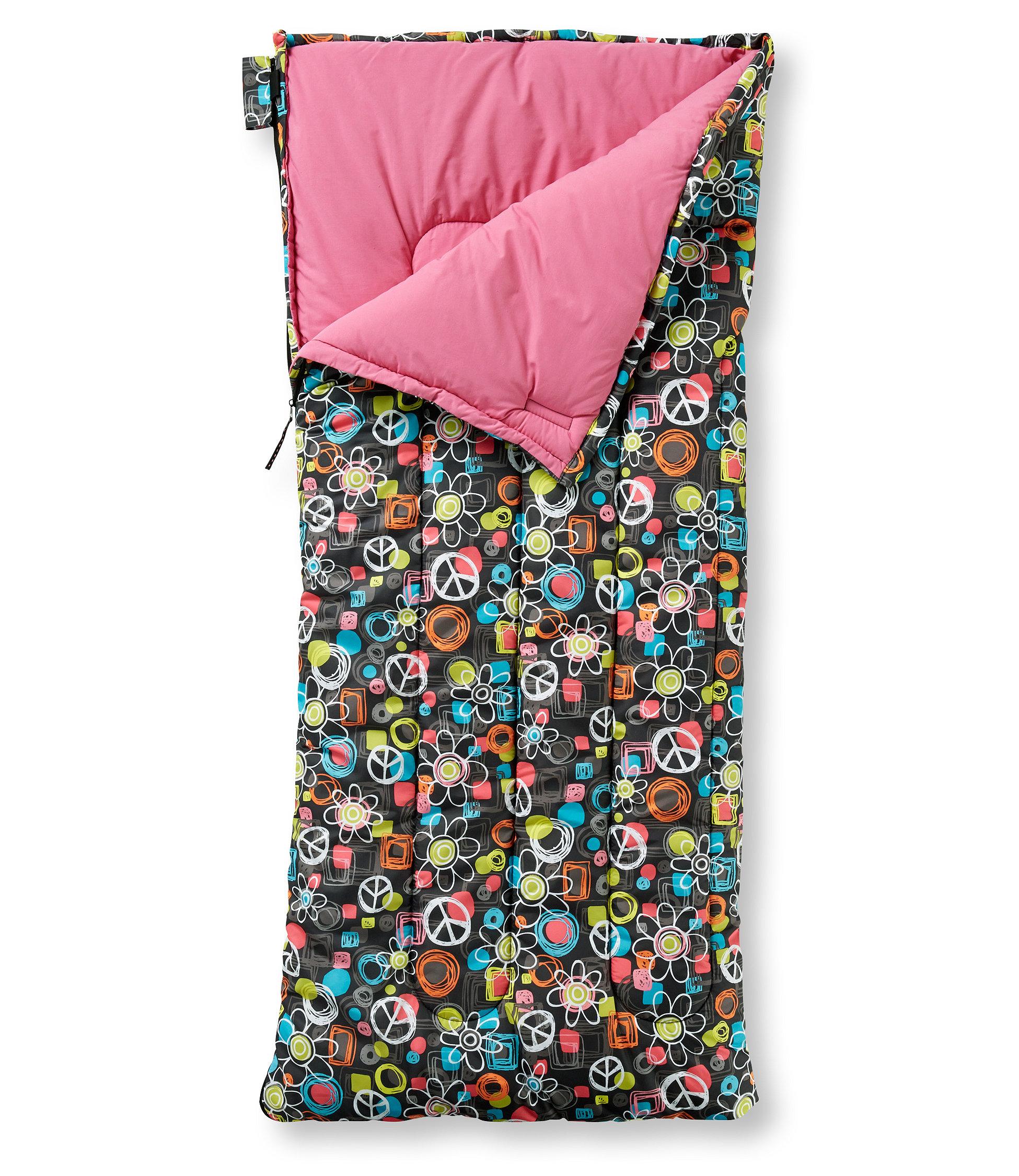 284929 Camp Sleeping Bag, Kids' Graphic 40° chalkboard peace