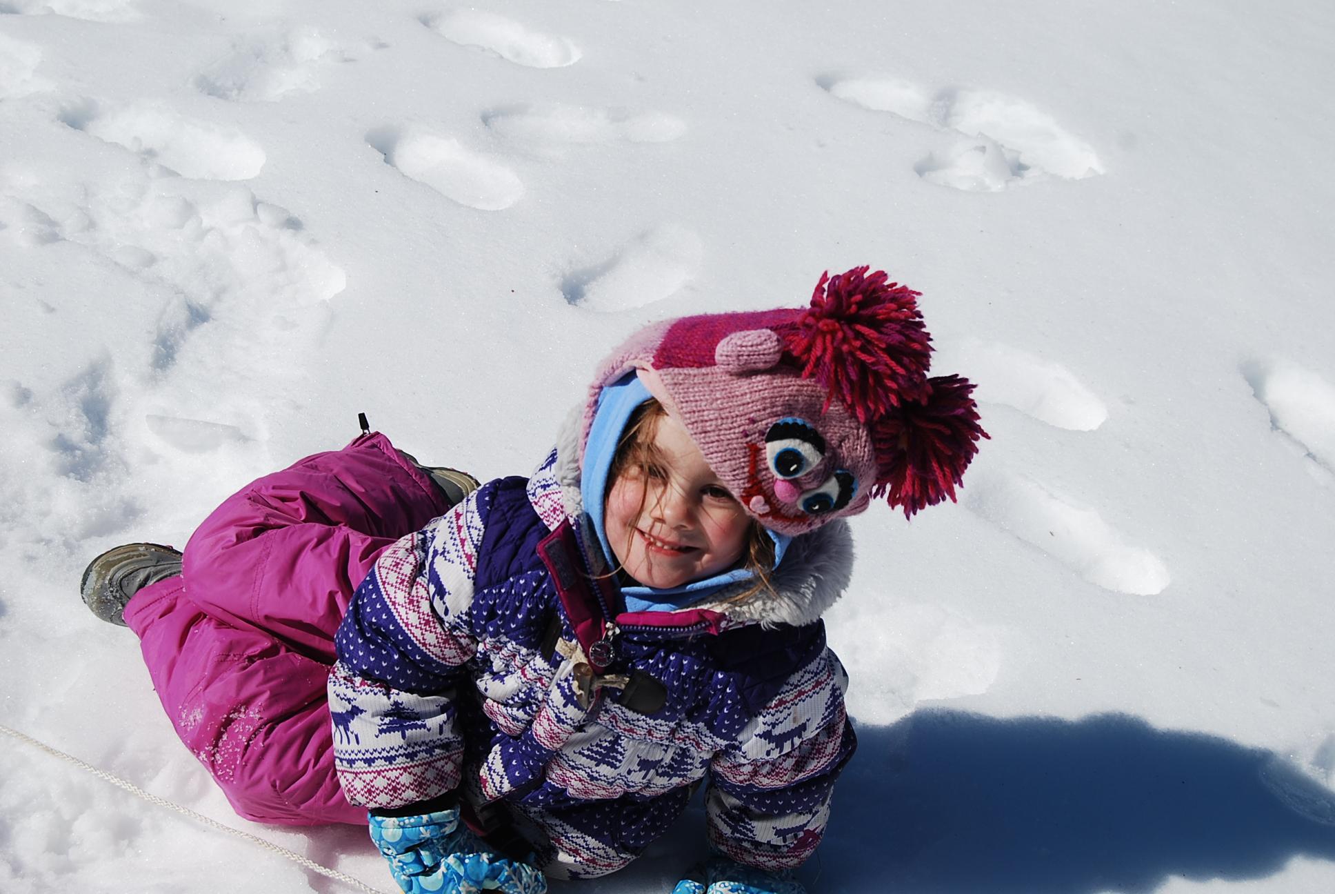 Winter Girl Outside