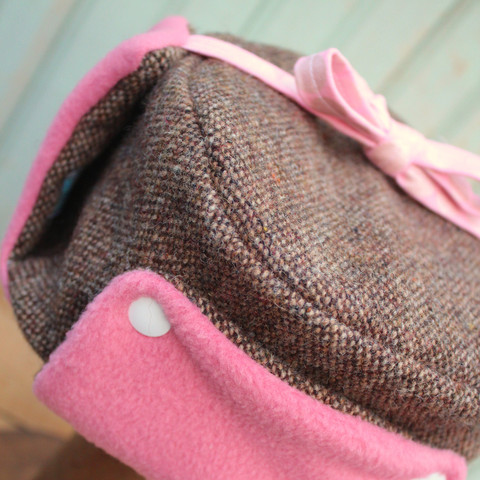 worthygoods_Little_Trapper_brown_twill_pink_fleece_white_snaps_2_large